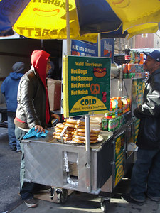 A hot dog stand - New York, NY ... November 10, 2005 ... Photo by Rob Page III