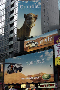 The always creative advertising of Times Square - New York, NY ... November 27, 2008 ... Photo by Rob Page III