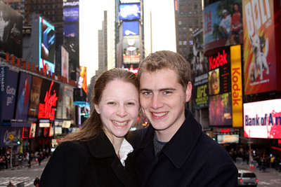 Rob and Emily in times Square - New York, NY ... November 27, 2008 ... Photo by Jen Addair