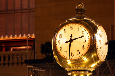 The clock in Grand Central Station - New York, NY ... November 27, 2008 ... Photo by Rob Page III