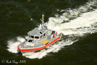 The Coast Guard patrols the East River - New York, NY ... September 19, 2009 ... Photo by Rob Page III