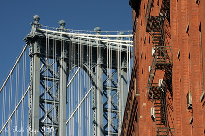 The Manhattan Bridge from Brooklyn - New York, NY ... September 19, 2009 ... Photo by Rob Page III