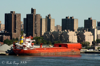 A ship at port on the East River - New York, NY ... September 19, 2009 ... Photo by Rob Page III