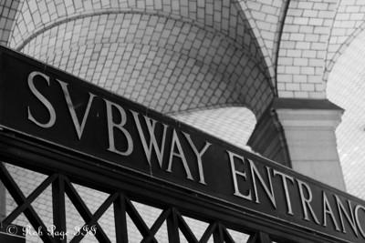 A subway entrance - New York, NY ... September 19, 2009 ... Photo by Rob Page III