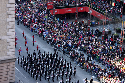 Marching down Broadway - New York, NY ... November 27, 2008 ... Photo by Rob Page III