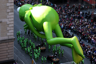 Kermot the Frog - New York, NY ... November 27, 2008 ... Photo by Rob Page III