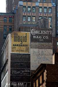 Old advertisements on the buildings - New York, NY ... November 28, 2008 ... Photo by Rob Page III