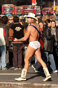 What trip to Times Square isn't complete without seeing the Naked Cowboy - New York, NY ... November 28, 2008 ... Photo by Rob Page III