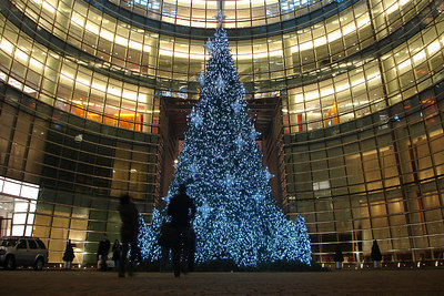 The Christmas tree outside the Bloomberg building - New York, NY ... December 16, 2006 ... Photo by Rob Page III