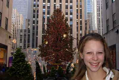 Emily down by the Rockefeller Center - New York, NY ... December 16, 2006 ... Photo by Rob Page III