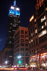 The Empire State Building stands high above the streets of NYC - New York, NY ... December 16, 2006 ... Photo by Rob Page III