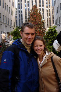 Rob and Emily in front of the Rockefeller Center - New York, NY ... December 16, 2006