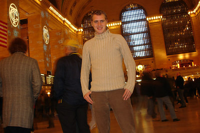 Rob in Grand Central Station - New York, NY ... December 16, 2006 ... Photo by Emily Conger