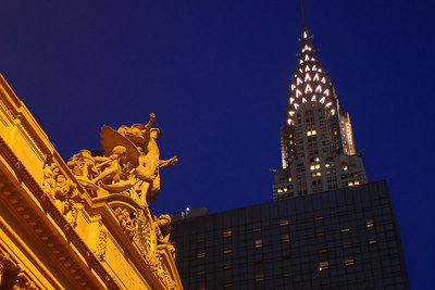 Grand Central Station with the Chysler Building in the backgorund - New York, NY ... December 16, 2006 ... Photo by Rob Page III