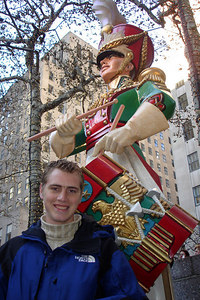 Rob, in front of a drummer boy at Rockefeller Center - New York, NY ... December 16, 2006 ... Photo by Emily Conger