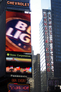 Times Square advertisements - New York, NY ... December 16, 2006 ... Photo by Rob Page III