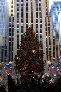 The Christmas tree at Rockefeller Center - New York, NY ... December 16, 2006 ... Photo by Rob Page III