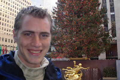 Rob, down by the ice at Rockefeller Center - New York, NY ... December 16, 2006 ... Photo by Emily Conger