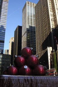 Ornaments near Rockefeller Center - New York, NY ... December 16, 2006 ... Photo by Rob Page III