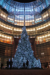 The Christmas tree in front of the Bloomberg building - New York, NY ... December 16, 2006 ... Photo by Rob Page III