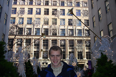 Rob, down at Rockefeller Center - New York, NY ... December 16, 2006 ... Photo by Emily Conger