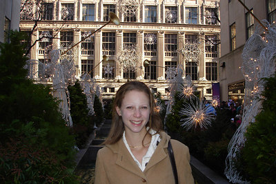 Emily hanging out in front of the Rockefeller Center - New York, NY ... December 16, 2006 ... Photo by Rob Page III
