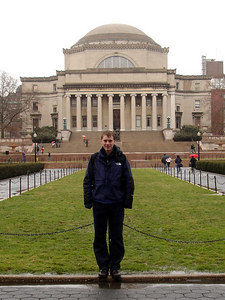 Rob at Columbia University - January 3, 2006 ... New York, NY ... Photo by Christine Bell