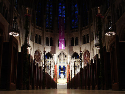 Inside the Riverside church.  The Reckefeller family constructed it in 1930 - New York, NY ... January 3, 2006 ... Photo by Rob Page III