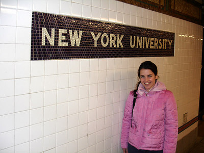 Christine at NYU - New York, NY ... January 2, 2006 ... Photo by Rob Page III