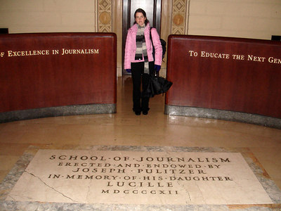 Christine, at the Columbia School of Journalism - New York, NY ... January 3, 2006 ... Photo by Rob Page III
