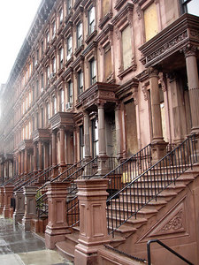 Some brownstones in the Harlem area of Manhattan - New York, NY ... January 3, 2006 ... Photo by Rob Page III
