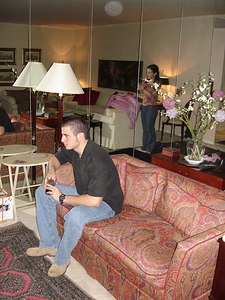 Getting ready to go out - New York, NY ... January 4, 2006 ... Photo by Rob Page III