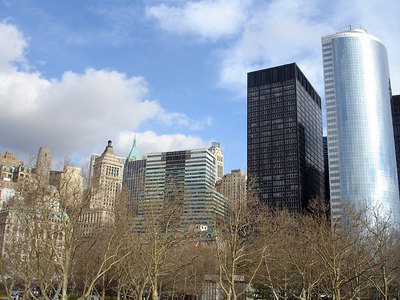 The view of NYC from Battery Park - New York, NY ... January 5, 2006 ... Photo by Rob Page III