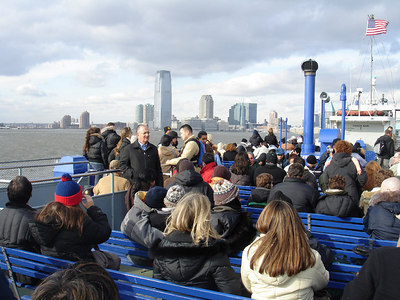 On the ferry to the Statue of Liberty - New York, NY ... January 5, 2006 ... Photo by Rob Page III