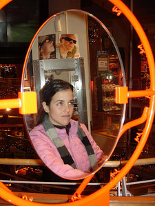 Christine goes for a dunk - New York, NY ... January 4, 2006 ... Photo by Rob Page III