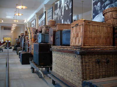 Sample Luggage at Ellis Island - New York, NY ... January 5, 2006 ... Photo by Rob Page III