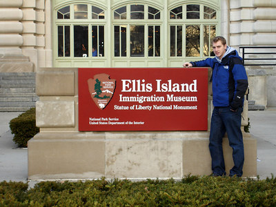 Rob and Ellis Island - New York, NY ... January 5, 2006 ... Photo by Christine Bell