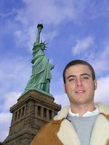 Pedro and the Statue of Liberty - New York, NY ... January 5, 2006 ... Photo by Rob Page III