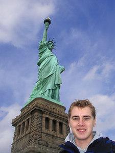 Rob and the Statue of Liberty - New York, NY ... January 5, 2006 ... Photo by Pedro Mendoza