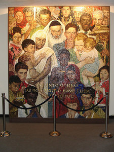 Norman Rockwell Mosaic: On the occasion of the fortieth anniversary of the United Nations in 1985, this mosaic was presented to the United Nations by Mrs. Nancy Reagan, the then First Lady, on behalf of the United States. - New York, NY ... January 2, 2006 ... Photo by Rob Page III