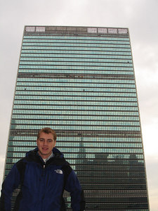 Rob and the United Nations building - New York, NY ... January 2, 2006 ... Photo by Emily Conger