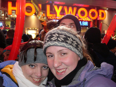 Betg Allen and Heather in Times Square - New York, NY ... December 31, 2005 ... Photo by Rob Page III
