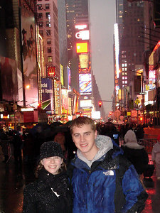 Getting ready for our evening in Times Square - New York, NY ... December 31, 2005