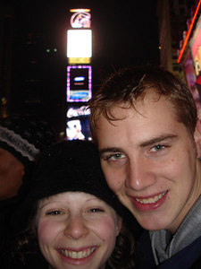 Rob and Emily in Times Square - New York, NY ... December 31, 2005