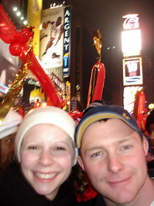 Emily and Dan in Times Square - New York, NY ... December 31, 2005 ... Photo by Rob Page III