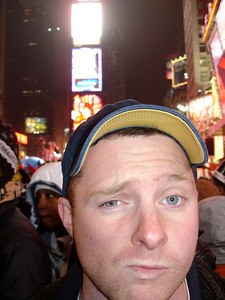 Dan Boyle in Times Square - New York, NY ... December 31, 2005 ... Photo by Rob Page III