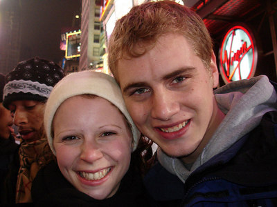 Emily and Rob in Times Square - New York, NY ... December 31, 2005