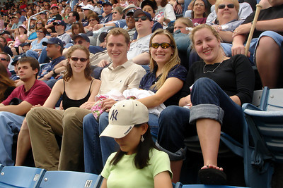 Enjoying the Pirates game at Yankee Stadium - New York, NY ... June 10, 2007 ... Photo by Bob Page, Jr.