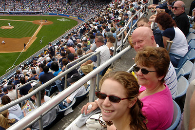 The Congers enjoying Yankee Stadium - New York, NY ... June 10, 2007 ... Photo by Rob Page III