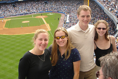 Enjoying the Pirates game at Yankee Stadium (Heather, Jillian, Rob, & Emily) - New York, NY ... June 10, 2007 ... Photo by Bob Page, Jr.
